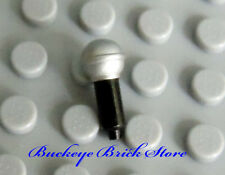 NEW Lego Minifig Band Music Utensil MICROPHONE Black w/ Pearl Gray Top