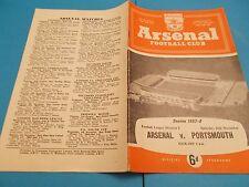 1957-58 Arsenal v Portsmouth