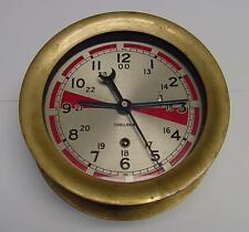 "CHELSEA SHIP'S RADIO ROOM CLOCK - DUAL HOUR HAND 6"" BOSTON, MA U.S.A. CIRCA 1971"