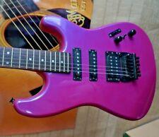 BC Rich Guitar Platinum Series Strat Hot Pink Korea 1980s