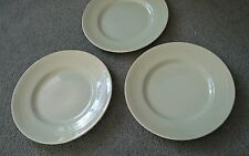 "Vintage Woods Ware Beryl Salad Plates 9"" inch  x 3 lunch small green 50s 60s vgc"