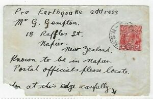 New Zealand 1931 Hawkes Bay Earthquake mail cover from Australia