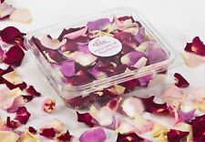 Lovely colorful  Freeze Dried Rose Petals. Confetti 1 Liter box (5 cups). SALE!