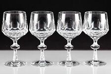 4 Vintage Nachtmann Alexandra Weingläser klein Bleikristall Glas Weinglas U2O
