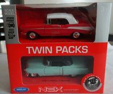 NIB 1:38 Nex Welly Twin Packs 1957 Chevrolet Bel Air + 1953 Cadillac Eldorado