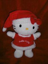 Doudou Peluche  Sanrio Hello Kitty Chat Habillé en Père Noel Mère Noel 26  cm