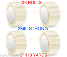 "36 Rolls Carton Sealing Clear Packing 2 Mil Shipping Box Tape 2"" x 110 Yards"