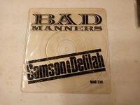 """Bad Manners – Samson & Delilah - 7"""" Vinyl Single 1982"""