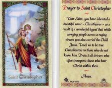 Saint Christopher Prayer Holy Card Christbearer Carried Jesus Laminated HC9-027E