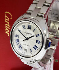 Cartier Cle Ladies Steel Automatic 35mm Watch Box/Papers 3856 WSCL0006