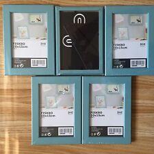 5 x IKEA FISKBO  Picture Art Frames 10 x15 cm 4x6inches BLUE - £9.99 FREE P&P