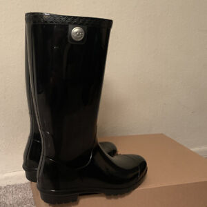 UGG SHAYE 1012350 BLACK WATERPROOF WOMAN'S RAINBOOTS/ SIZE 6, AUTHENTIC/ NEW