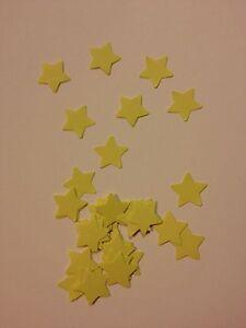 50 Yellow card stars wedding crafts, scrapbooking, table confetti
