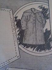 """PATRON ORIGINAL POUR LA POUPEE BLEUETTE """" MANTEAU LONG SEPTEMBRE 1913"""