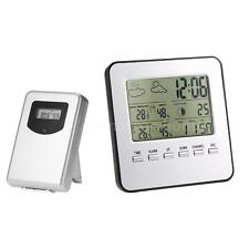 Wireless Weather Clock Lcd Digital Thermometer Hygrometer Indoor Outdoor T0M5