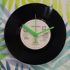 "John Lennon 'Woman' Retro Chic 7"" Vinyl Record Wall Clock"