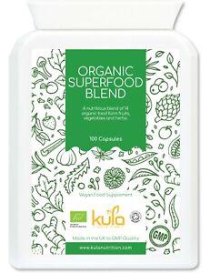 Organic Superfood Blend - Food Form Multivitamin & Mineral - 100 Vegan Capsules