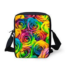 Girls Floral Handbag Women Messenger School Bag Sling Cross Body Purse Teens