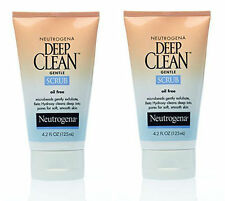 (2 PACK) Neutrogena Deep Clean Gentle Scrub, 4.2 oz Oil Free, Exfoliate, Gentle