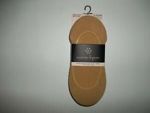NANETTE LEPORE 6 PR MicroFiber Seamless Tan Shoe LINER SOCKS Womens Size 9 -11