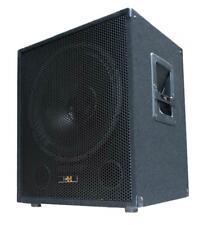 """600W DJ PA SUBWOOFER Bass-Lautsprecher Box 38cm/15"""" SUB-P38 mit Tiefpass-Weiche"""