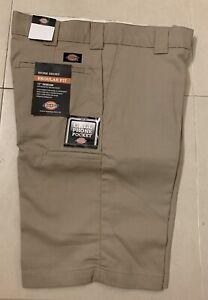 "Dickies 11"" Regular Fit Flex Shorts Desert Tan 36W *NEW*"