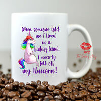 Sarcastic Unicorn Mug Thinking Of You Gift For Her Gift For Women Funny Coffee