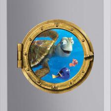Tortoise Fish 3D Decal Wall Sticker Wallpaper Mural Art For Kids Rooms Bathroom