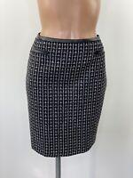 M&CO Black & White Boucle Tweed Style Straight Skirt UK 16 RRP £30