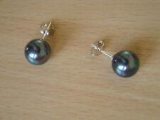 10mm Black Shell Pearl  Earring Studs - er7