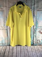 Ben Hogan Men's Performance Yellow Polo Golf Shirt Size XL B4