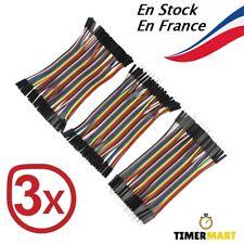 Câble Dupont 10 Cm Jumper Wire Linie Arduino Breadboard M-F, M-M, F-F TimerMart