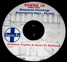 Atchsion Topeka & Santa Fe Tower 19 History Data,Drawings & Photos PDF files DVD