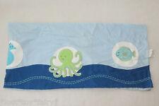 Kidsline Bubbles Ocean Sea Life Blue Fish Turtle Neutral Nursery Window Valance