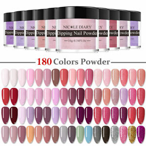 180 Colors NICOLE DIARY Nail Dipping Powder Acrylic Glitter French Nail Art Dip