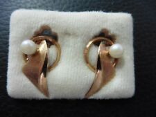 BOUCLE D'OREILLE CLIPS PLAQUE OR VINTAGE 50 NEUF/OLD NEW EARRINGS GOLD PLATED