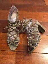 Manolo Blahnik Gray Suede Strappy Heel Sandals Size 39
