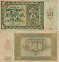 CROATIA 500 KUNA 1941 BANKNOTES