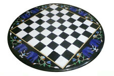 Marble Chess Game Table Top Pietra Dura Semi Precious Stone Handamde Gift