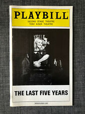The Last 5 Years Second Stage Off-broadway Playbill Betsy Wolfe Adam Kantor