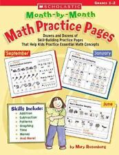 Month-By-Month Math Practice Pages Scholastic Grades 1-2 EUC Skill Building Prac
