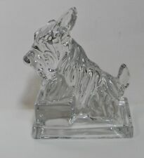 Pair Opalescent Scotty Dog Bookends