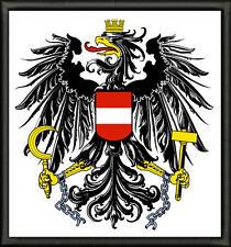 Bundeswappen von Österreich Patch Aufnäher, Pin ,Aufbügler. premium qualität.