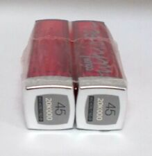2 Maybelline Whisper Lipstick WHO WORE IT RED-ER 45 Seal