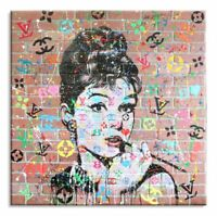 """ Audrey 8 Love "",Limited Edition 26/50, canvas, Signed, Chanel, Louis vuitton,"