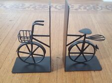 Black Metal Bicycle Bookends Book Ends Bike
