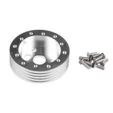 """Silver 0.5"""" Hub for 5 & 6 Hole Steering Wheel to Grant 3 Hole Adapter Boss 1/2"""""""