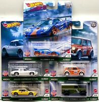 HOT WHEELS 2021 CAR CULTURE BRITISH HORSE POWER COMPLETE SET OF 5 CAR IN-STOCK