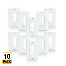 Primecables® 10PK Gang Brush White Wall Plate, Decora Version