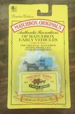 Matchbox - Authentic Recreations ~ Horse Drawn Milk Float (Blue)~ NEW ON CARD